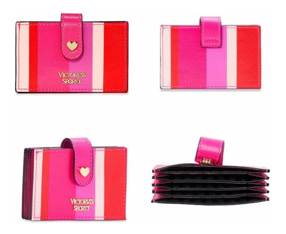 Victorias Secret Pink Original Striped Tarjetero
