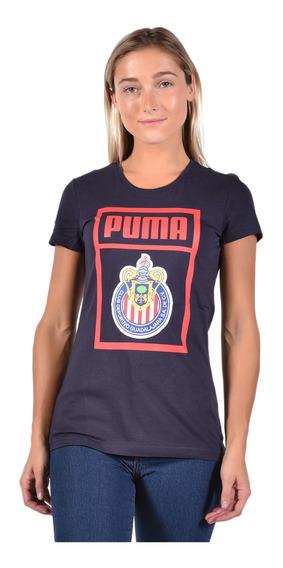 Playera Chivas - Puma - 753710 03 - Azul Mujer