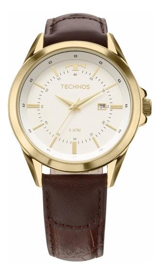 Relógio Technos Executive Masculino Marrom 2115kzd/2k