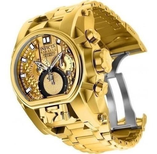 Relógio R26 Invicta Magnum 25210 Zeus Swis Todo Dourado