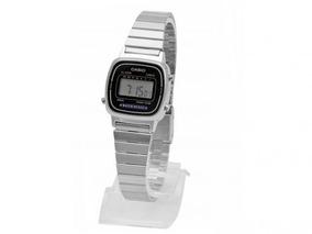 Relógio Feminino Digital Casio (prata Com Preto) - Original