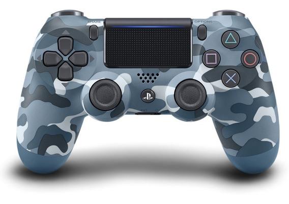 Controle Ps4 Camuflado Azul
