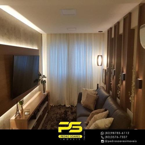 Apartamento Com 2 Dormitórios À Venda, 80 M² Por R$ 530.000 - Altiplano Cabo Branco - João Pessoa/pb - Ap3338