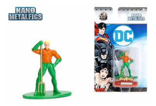 Figura Metal Aquaman 4 Cm Liga De Justicia Nano Metalfig