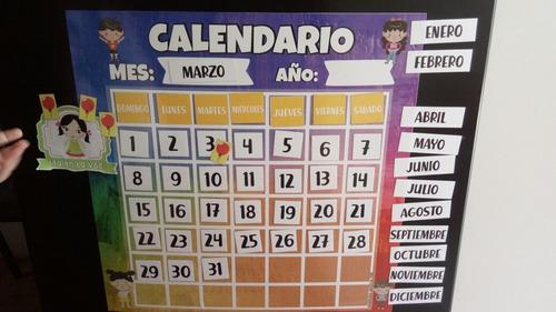 Calendario Vinilo Imantado (maestras Docentes Seños Jardín)