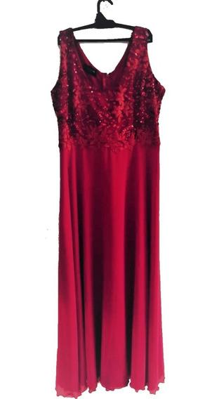 Envío Gratis Vestido De Fiesta Largo Rojo Elegante