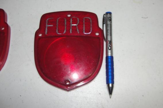 Lente Da Lanterna Traz Ford F1 Acessorio 10,5larg 12,5 Alt