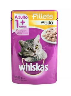 Caja Whiskas Pollo De 85 Grs Con 8 Pouches