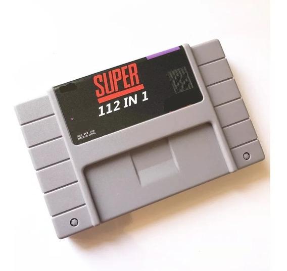 Cartucho Super Nintendo 112 Jogos Em 1 Donkey Kong Bateria