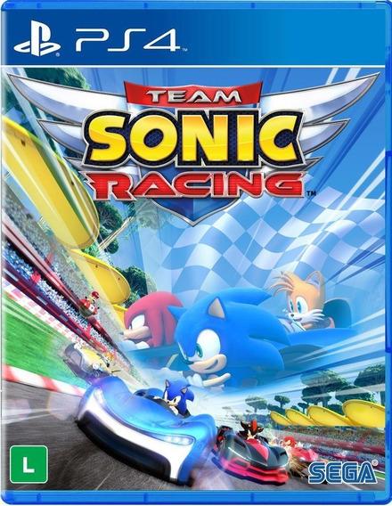 Team Sonic Racing Ps4 Novo Lacrado Mídia Física + Brinde