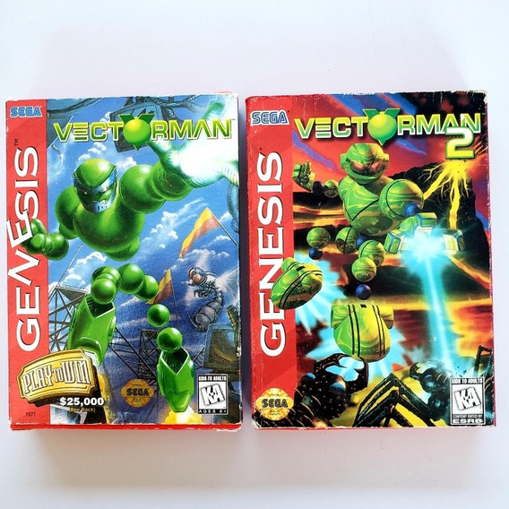 Vectorman 1 E 2 Cib Completo Mega Drive Original Genesis