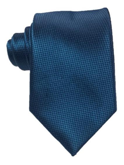 Corbata Caballero Textura Frank Azul Petroleo