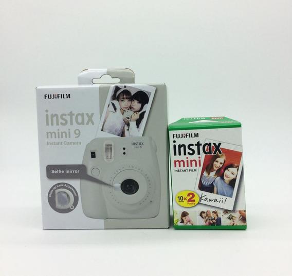 Câmera Fujifilm Instax Mini 9 Branco Gelo + Film 20 Fotos