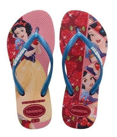 Chinela Havaianas Slim Princesas Meninas Original