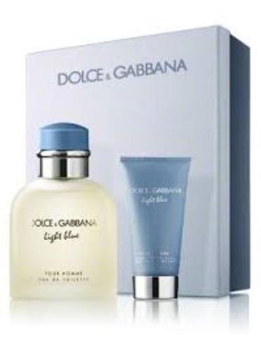 Imagen 1 de 2 de Pack Perfume Light Blue Dolce & Gabbana Edt Men Original