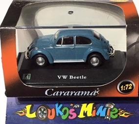 Cararama Vw Beetle Fusca Azul Escala 1:72