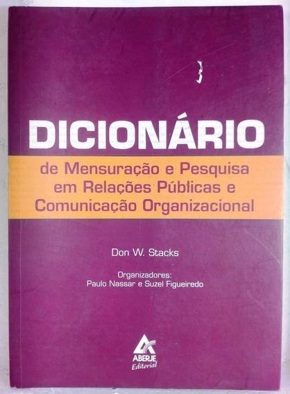 Dicionário Mensuração Pesquisa Relações Públicas Stacks
