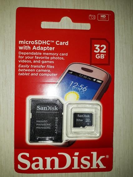 .cartão De Memória 32gb Sandisk.