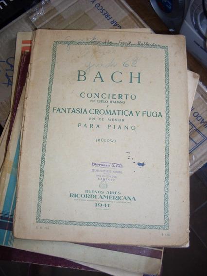 Bach. Concierto En Estilo Italiano Y Fantasía Cromática Y...