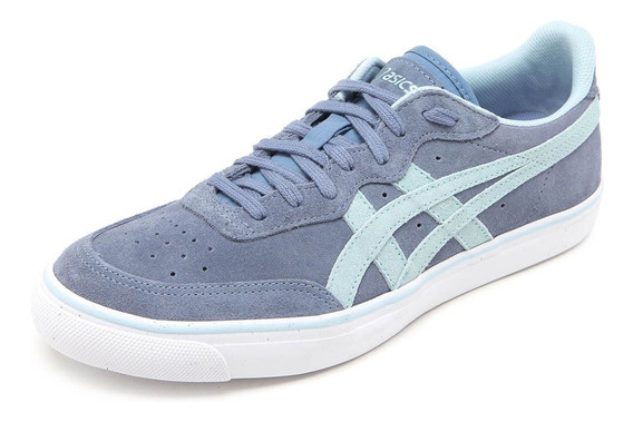 Tênis Asics Top Spin Suede Couro Natural Unissex Original+nf
