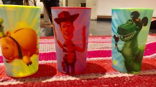 Combo 3 Vasos Plástico Duro Toy Story Disney Store 11cm