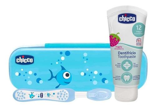 Imagen 1 de 5 de Chicco Set De Cuidado Oral, Color Azul