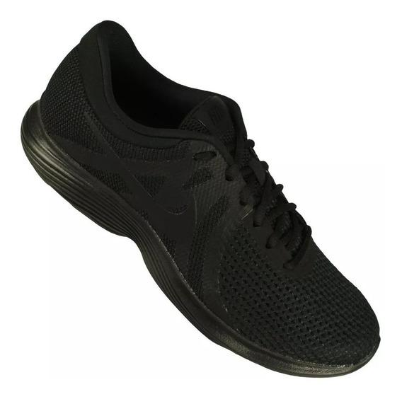 Tênis Masculino Nike Revolution 4 Black Preto Running 10666