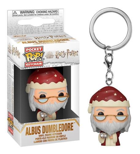 Imagen 1 de 2 de Funko Pocket Pop! Llavero: Harry Potter - Dumbledore Holiday
