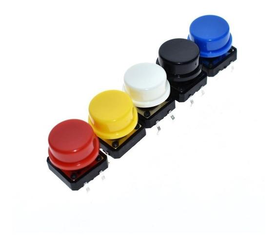 Kit 20 Push Buttons 12x12 Mm Chave De Toque