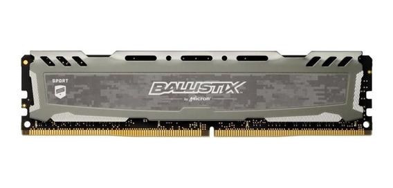 Memoria Ram 16gb Ddr4 2666mhz Ballistix Sport Lt Grey Gaming