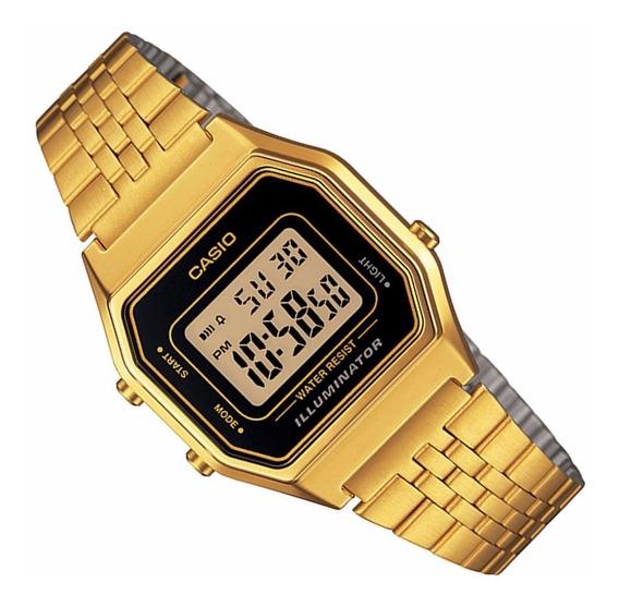 Relogio Casio La680 Wga-1d Cronometro Alarme Vintage Wr Gold