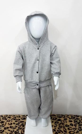Kit 3 Conjunto De Moletom Para Bebe Menino E Menina