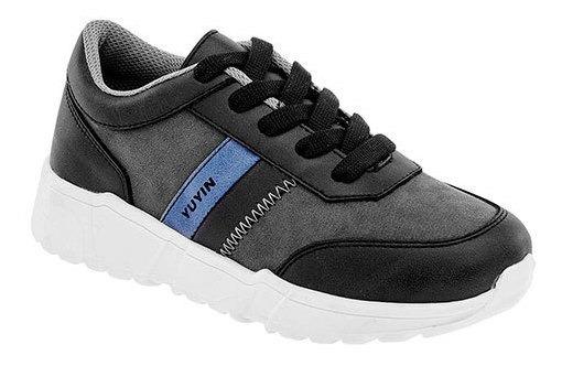 Yuyin Sneaker Deportivo Niño Gris Textilsintético N99019 Udt
