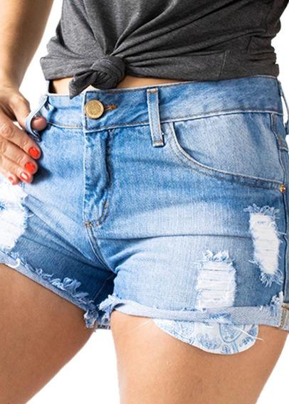 Shorts Boyfriend Destroyed Jeans Claro Anticorpus 13380
