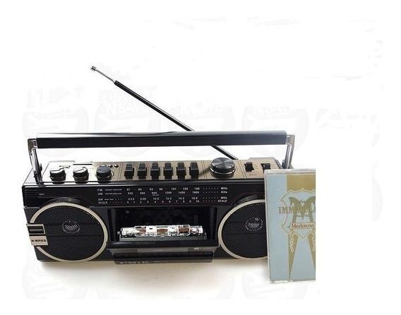 Radio Gravador Toca Fitas K7 Retro Anos 80 Conexão Usb + Sd