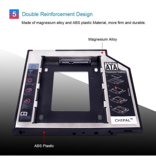 Adaptador Caddy Dvd Para Segundo Hd Ou Ssd 2.5 Sata 9,5mm