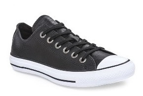 Zapatilla Converse Leather Cuero Negra Original
