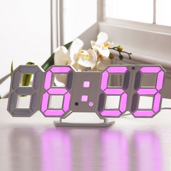 Despertador Digital Led Pr?tico Rosa