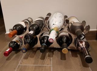 Porta Botellas Fino Y Elegante Para 9 Botellas Vino Pewter