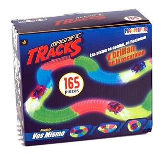 Pista Magnific Tracks Auto Luminoso Mediana 165 Piezas