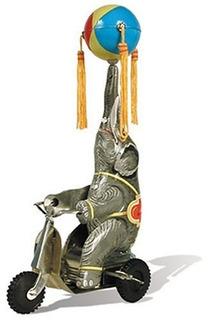 Schylling Tin Elephant En Una Bicicleta