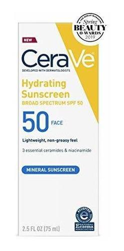 Cerave Sunscreen Face Spf 50´ 25 Oz De Hidratante Mineral S