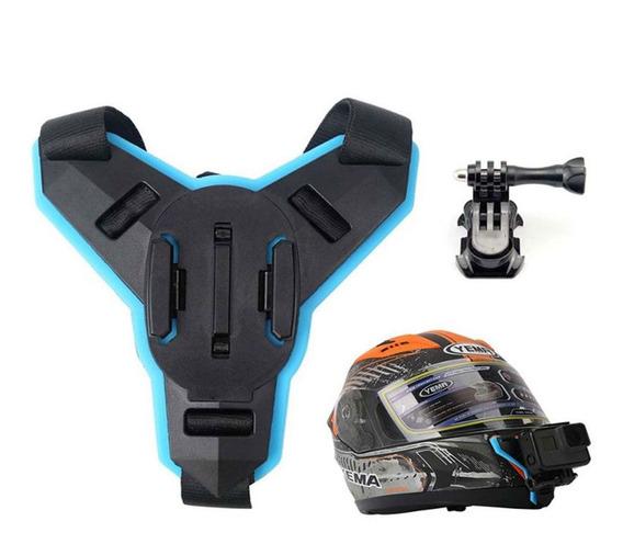Fivela Presilha Helmet Capacete Queixeira Moto Gopro Sjcam