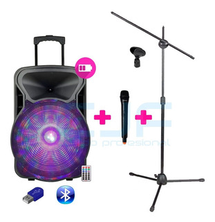 Parlante Audiosonic 15 Karaoke Usb Bluetooth +mic.inal.+ Pie