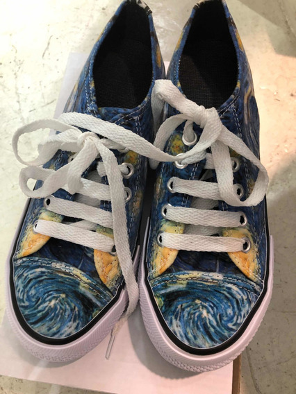 Zapatilla Diseño Arte Van Gogh Nuevo Palermo Microcentro