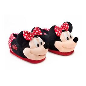 Pantufa 3d Minnie Mouse Original Ricsen - Sola Borracha