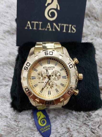 Relógio Masculino Dourado - Modelo Sport