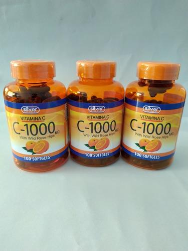 Vitamina C 1000 Mg Ros Hips 3 Tarros - Unidad a $3