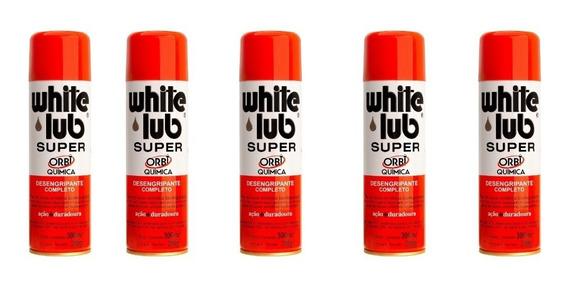 Kit 5 Oleo Desengripante White Lub Super 300ml Anticorrosivo
