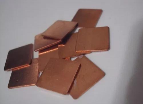 Chapa De Cobre Thermal Pad Notebook Bga Gpu 2cm X 2cm 1mm